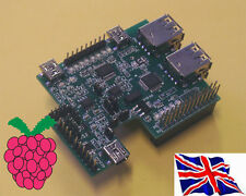 Rs-Pi 4P USB HUB - Multi-function I2C A/D D/A RTC RS232 Board for Raspberry Pi