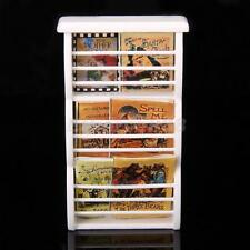 1/12 Dollhouse Miniature Furniture Wooden Bookshelf Book Magazine Rack White New