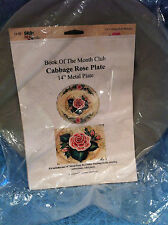 NEW BOOK OF THE MONTH CLUB CABBAGE ROSE PLATE KIT