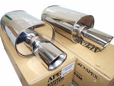 (2x) Apexi WS2 Universal Exhaust Mufflers (Turbo 80mm Inlet 115mm Tip)