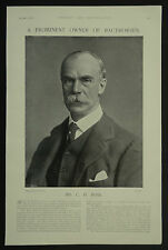 Charles Day Rose Racehorse Owner Later RAC Chairman 1897 Page Photo Article