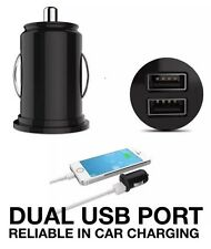 MINI DUAL USB PORT FAST CAR CHARGER AUTO ADAPTER 12V UNIVERSAL SAMSUNG GALAXY