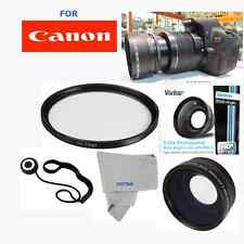 WIDE ANGLE LENS+UV FILTER KIT FOR Canon Rebel EOS T1 T2 T3 T3I T4 T4I T5 T5I 60D