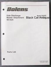 """1988 Bolens 48"""" Side Discharge Mower Attachment Parts List Model 50048S"""