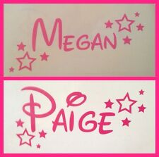Personalised Disney Name And Stars Wine Glass Decal
