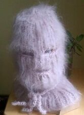 Luxury Hairy soft Mohair sweater * Balaclava *Neutral~eyes mouth by uniquemohair