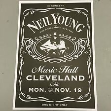 NEIL YOUNG - CONCERT POSTER CLEVELAND MONDAY 19th DECEMBER (A3 SIZE)