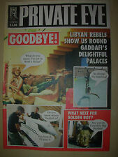 PRIVATE EYE MAGAZINE No 1296 SEPTEMBER 2 2011 COLONEL GADDAFI'S PALACES