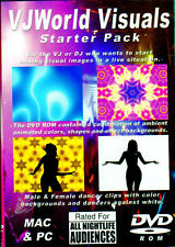 VJWorld Visuals STARTER PACK VIRTUAL AMBIENT DJ or VJ PARTY SIMULATORS (DVD ROM)
