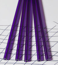 "2 PC CLEAR PURPLE ACRYLIC PLEXIGLASS LUCITE TUBES 1/2"" OD 1/4"" ID x 12"" LONG"