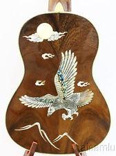 Alulu Solid Acacia Koa Tenor Ukulele,eagle MOP inlaid,hard case,HU689@!
