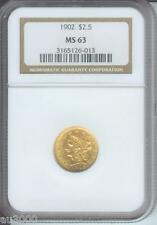 1902 ( 1902-P ) $2.5 Liberty Quarter Eagle Ngc Ms63 Graded Ms-63 Beautiful !