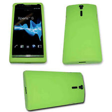 SILIKON TPU HANDY COVER CASE  GRÜN  SONY XPERIA S -  ARC HD + Displayschutzfolie