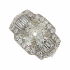 3.85ct Certified Old European Cut Diamond Antique Engagement Ring