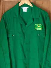"Top Quality Classic Green John Deere Badge Studded Overalls Boilersuit 48"" Chest"