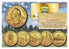 2010 24K Gold National Parks America the Beautiful Coins *Set of all 5 Quarters*