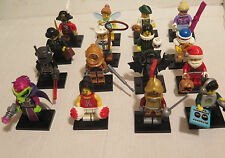 LEGO COLLECTIBLE MINIFIGURES SERIES 8 RARE LOT - complete set