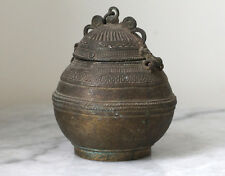 Antique INDIA Orissa decorated brass vessel for wedding ceremony