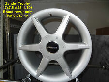 GENUINE ZENDER TROPHY WHEEL 17x7.5 4x100 ALLOY RIM MAG SPARE