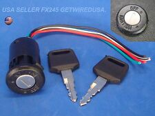 UNIVERSAL MOTORCYCLE IGNITION SWITCH 12-VOLT 2-KEY 2 POSITION ON OFF LOCK