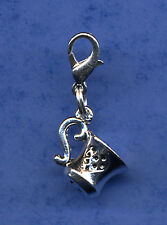"BEAUTIFUL "" TEA CUP MUG "" DANGLE CLIP ON CHARM TIBETAN SILVER CLIP ON CHARM"