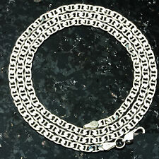 "Mariner 100-24"" 4mm Heavy 14.9 Gram Italian Link .925 Sterling Silver Chain"
