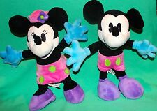 """DISNEY MICKEY MINNIE 12"""" ARTICULATED POSEABLE BENDABLE ARMS LEG PLUSH TOY NEW"""