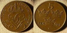 Sweden : 1925 5 Ore  AU-UNC #779.2    IR4367