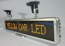 "21""x4"" Yellow Car Programmable LED Moving Scrolling Message Display Sign Board"