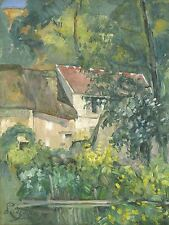 CEZANNE FRENCH HOUSE PERE LACROIX OLD ART PAINTING POSTER BB6225A