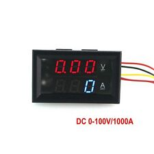 DC0-100V/1000A Blue/red led display volt amp Meter Digital Voltmeter Ammeter