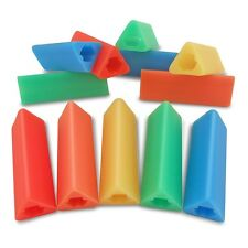 12 Triangle Pencil Grips No Roll Left or Right Handedness For No. 2 Pencils