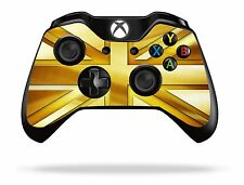 Gold Union Jack Xbox One Remote Controller/Gamepad Skin / Cover / Vinyl xb1r14