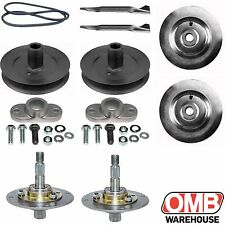 "38"" Deck Rebuild Kit for MTD Lawn Chief Ranch King Belt Blades Spindles Pulleys"