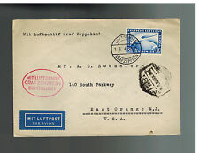 1930 Germany Graf Zeppelin LZ 127 Cover to A Rossler USA  # C36 Spain Flight