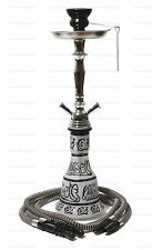 "20"" Black Hookah Water Pipe-2 Washable Hose Hooka Shisha Smoke Pipes Narghile"