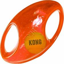 KONG Jumbler Football Loud Squeak Fetch Interactive Dog Toy MD/LG