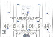 2001 Topps Tribute Baseball Sealed Hobby Box