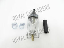 ROYAL ENFIELD SPECIAL GLASS BOWL FUEL FILTER