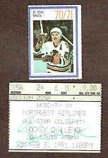 1991 All-Star Hockey Ticket Stub Autographed by Stan Mikita (with Esso Sticker)