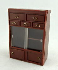 Dolls House 1:24 Scale Miniature Furniture Dresser Cabinet  Magnetic