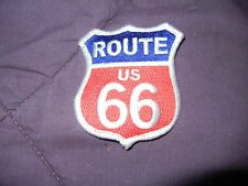 "BIKER PATCH ""ROUTE 66"" RED/WHITE/BLUE NEW NICE LADIES MEN PATCH"