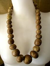Beautiful & Most Rare Old Kalerng Tribal Clay Beads Necklace Cheap  Don't Miss!*
