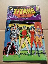 Official Teen Titans Index 3 of 5  .  ICG . 1985 -  VF / VF+