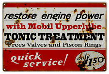 "Reproduction Quick Service Tonic Treatment Mobil Sign. 12""x18"""