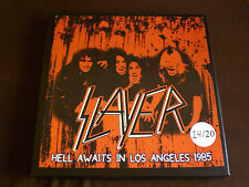 SLAYER  HELL AWAITS IN LOS ANGELES 1985 DOUBLE LP COLOURED VINYL LIMITED BOX