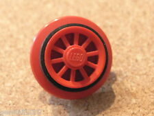 LEGO PART - Wheel2Ac01 Locomotive Wheel Spoked with Black Train Rim - VGC