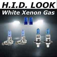 H3 H1 100w White Xenon HID Look High Low Fog Beam Headlight Bulb Pack