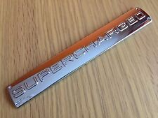 CHROME SUPERCHARGED BADGE FOR RANGE ROVER SPORT AUTOBIOGRAPHY VOGUE HSE