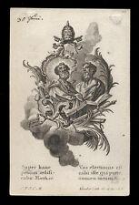 santino incisione1700 SS.PIETRO E PAOLO AP. klauber